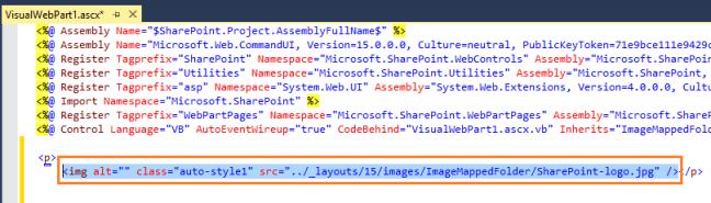 Image code behind