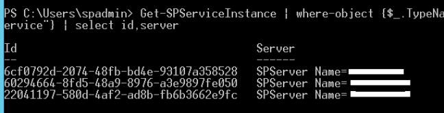 Which server the SharePoint Application Service is running