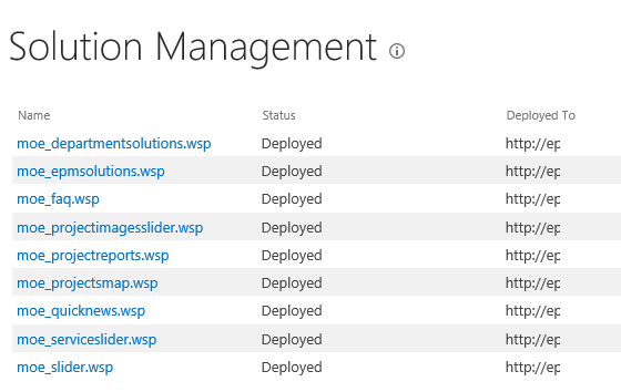 Uninstall SharePoint WSP Solutions