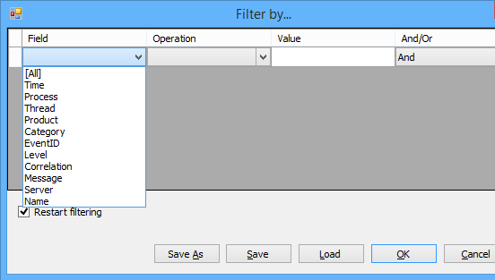 Filtering by Fields In SharePoint ULS Viewer