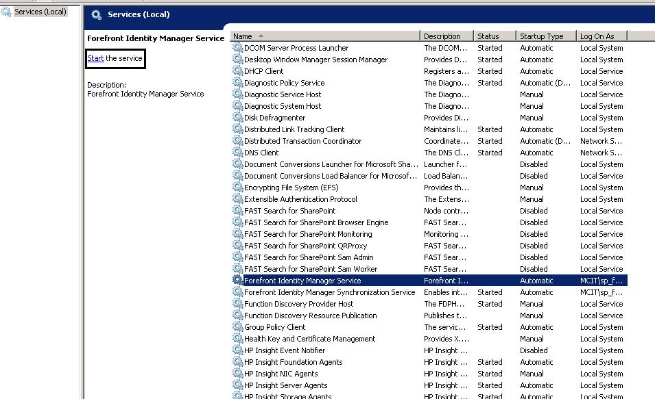 MOSS MA not found User Profile Syncronization Failure | EPM | SharePoint
