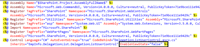 Disable View State in SharePoint