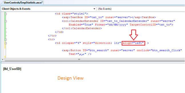The design view is out of sync with source view in Visual Studio