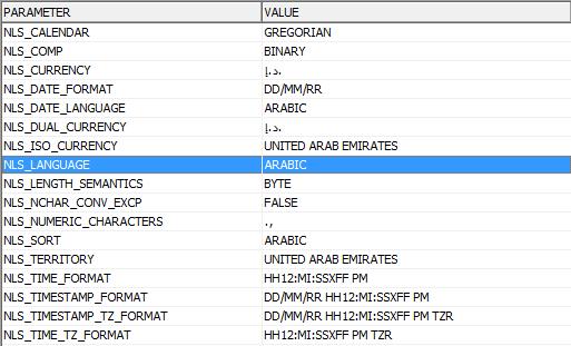 Changing NLS_LANGUAGE Oracle Parameter via C# in ASP.NET