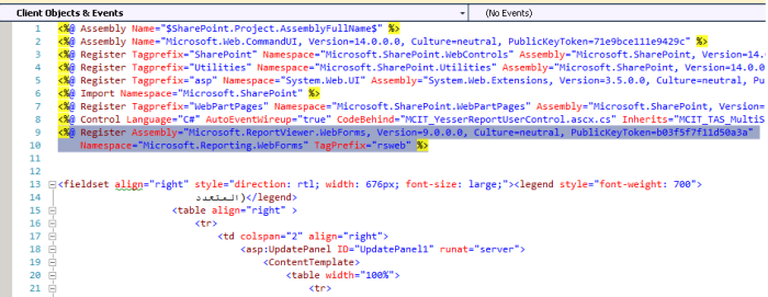 Register Microsoft.ReportViewer.WebForms in SharePoint Solution
