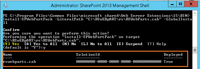 Install and configure the Reporting Service web part In SharePoint 2013.