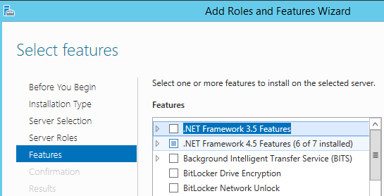 install .Net Framework3.5 Features on windows server 2012