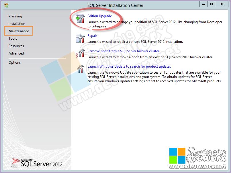 Maintinance - Upgrade Edition - SQL Server