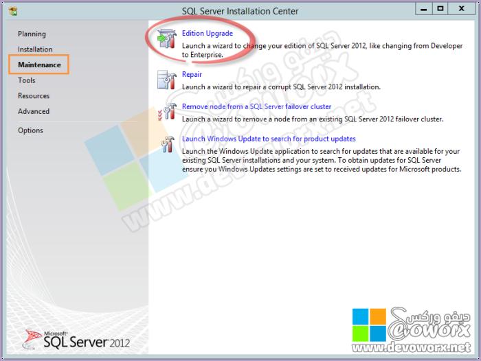 Maintenance - Upgrade Edition - SQL Server