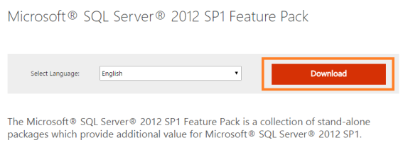 Microsoft® SQL Server® 2012 SP1 Feature Pack