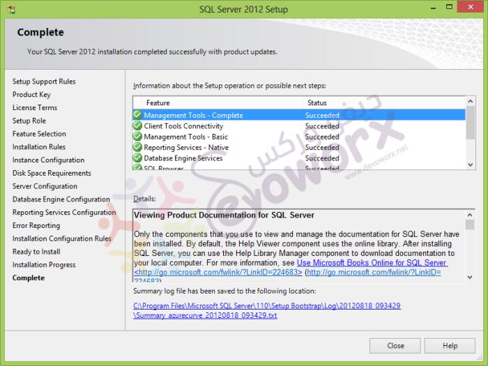 SQL 2012 Setup complete - Edition Upgrade Rules - SQL Server