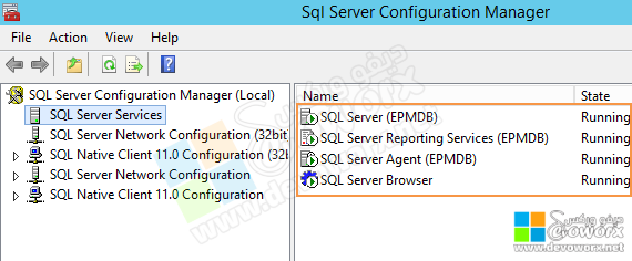 SQL Server Configuration Manager - restart the services