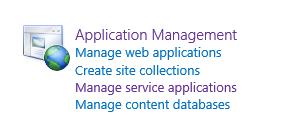 Application Management