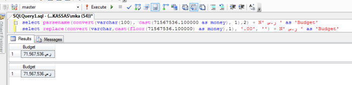 Convert Decimal To Money Without Cents In SQL Server