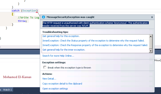 The HTTP request is unauthorized with client authentication scheme 'Anonymous' in Project Server