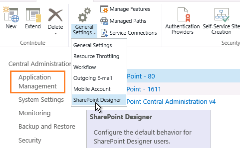This web site has been configured to disallow editing with SharePoint Design