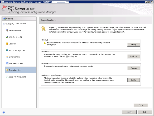 SSRS Error – The report server cannot decrypt the symmetric