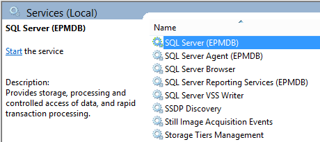 SQL Server service does not start successfully