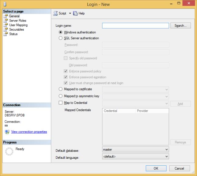 Add SharePoint Farm Account to SQL Server