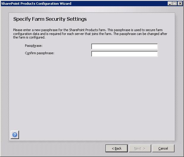 Specify Farm Security Settings