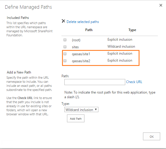 Open with explorer - configure managed path