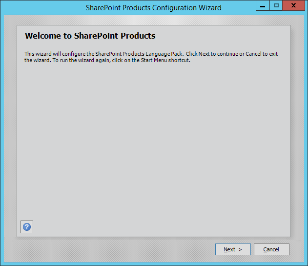 SharePoint Products Configration Wizard
