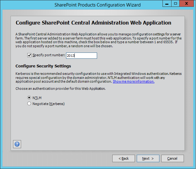 SharePoint Products Configration Wizard2