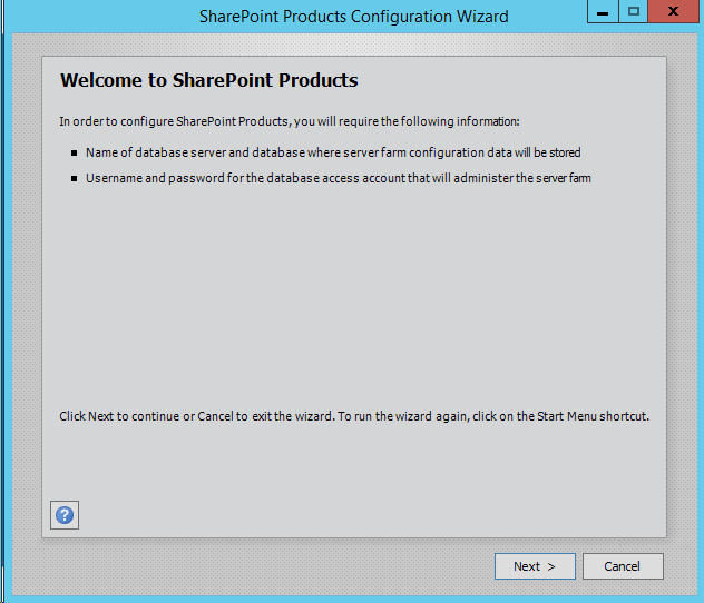 Run SharePoint-Server-2016-Configuration-Wizard-Started