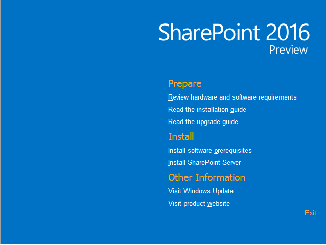 Install SharePoint Server 2016 step by step