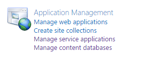 Application Management - Manage Service Applications