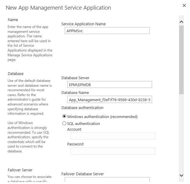 Configure App Management Service