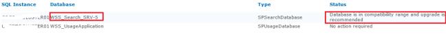 databse status