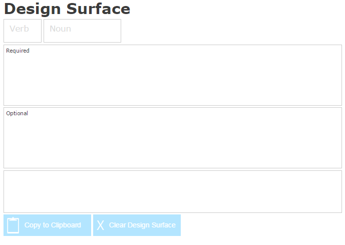 Design Surface