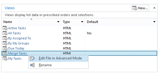 How to Merge all tasks that assigned to you or to a group you belongs to in a custom task list view via SharePoint Designer?