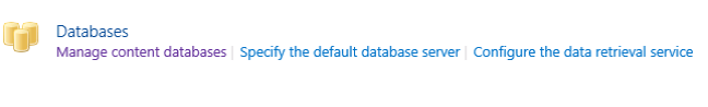 Manage content database in SharePoint