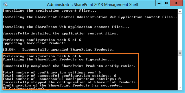 Run PSConfig.exe cmdlet using PowerShell