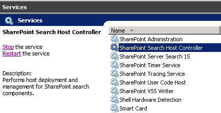 SharePoint Search Host Controller