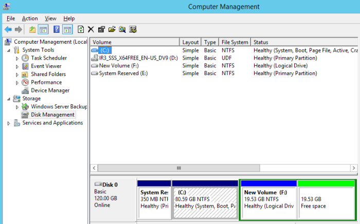 Computer Management Disk Management