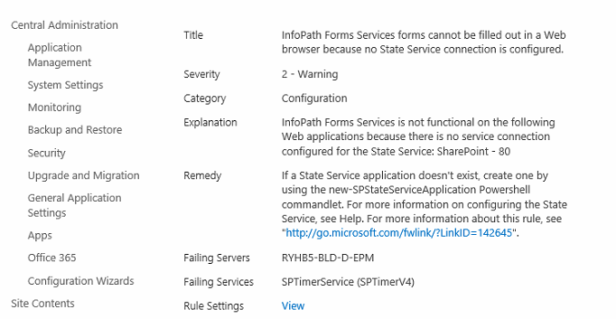 InfoPath Forms Services forms cannot be filled out in a Web browser because no State Service connection is configured