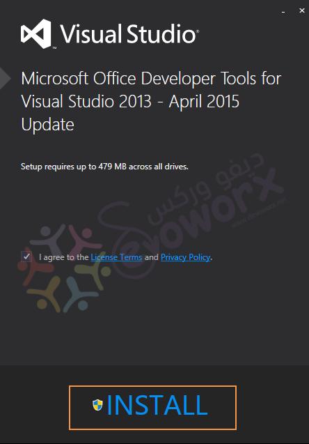 install office devloper tools for visual studio community 2013