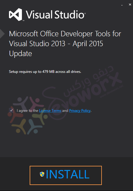 install office devloper tools for visual studio community 2013