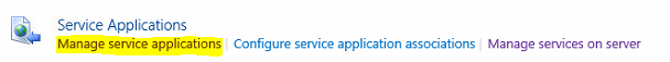 manage service application