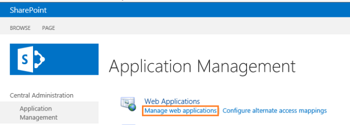 Manage Web Application