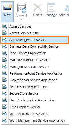 App Management Shared Service Proxy is not installed
