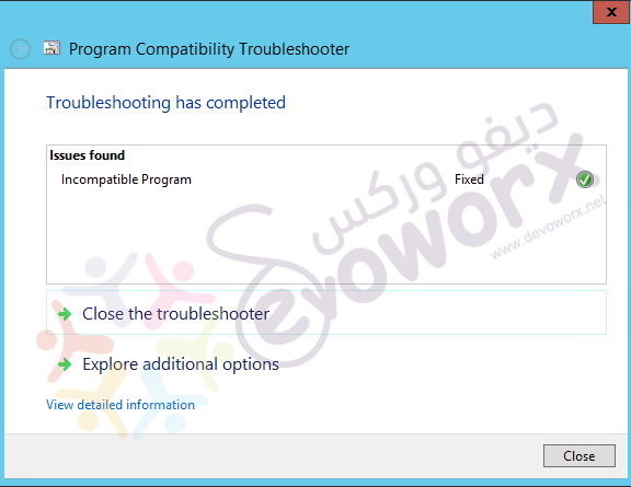Program Compatibility Troubleshooter - issue found