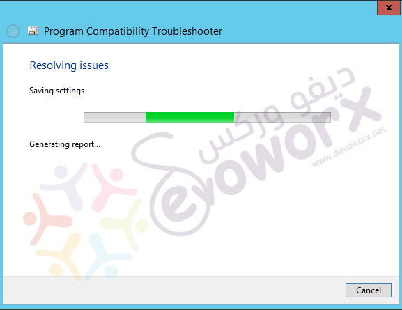Program Compatibility Troubleshooter - Resolving issue.png