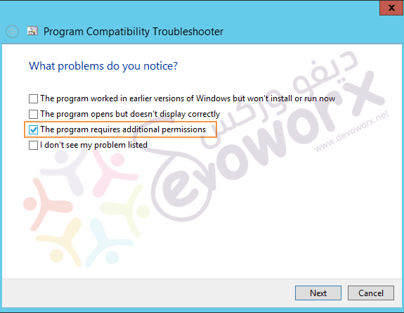 Program Compatibility Troubleshooter - The program requires additional permissions
