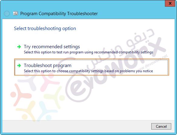 Program Compatibility Troubleshooter - Troubleshoot program