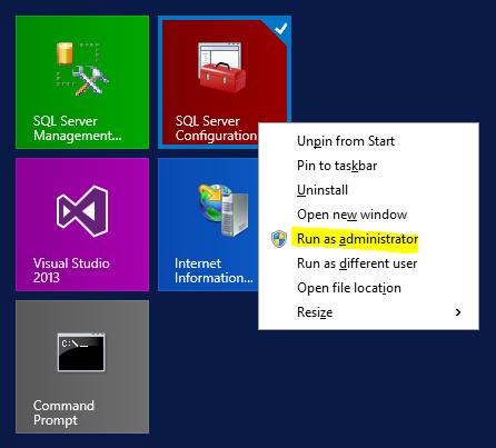 Open SQL Server Configuration