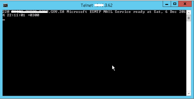 the port is opened using telnet cmdlet